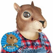 Squirrel Head Latex Mask Animal Cosplay Party Rubber Costume Prop Toy Cosplay