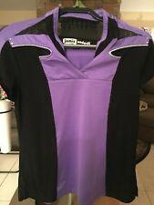 Jamie Sadock short sleeve purple & black golf top w silver accents size Medium