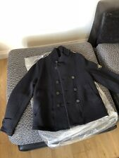 Stone Island Original Men's Navy Blue Wool Pea Military Jacket Size Large!!