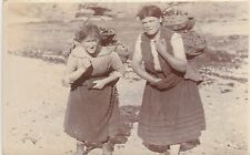 "*Foreign Postcard-""Two Ladies Work Hard Carrying Items on Their Back"" (U1-910)"