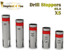 5 X Dental Implant STOPPERS Ø 2.8 For Drills Surgery Instrument dentalist