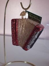 Old World Accordion Glass Ornament
