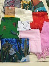 JOB LOT (10) de femme Vintage/Moderne écharpes/Châles y compris jacqama,