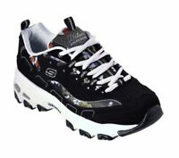Skechers D'lites Women Black White Floral Shoes Sporty Memory Foam Sneaker 13082