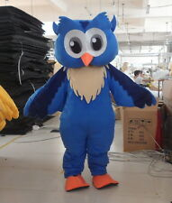 Blue Owl Mascot Costume Suit Animal Cosplay Party Dress Halloween Adults Outfits