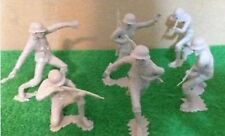 MARX TOYS Molded Plastic Soldiers 6 Inch Germans US MILITARY WWII!!