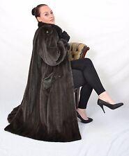 US399 Beautiful Mink Fur Coat Jacket Unusual Color Full Length Nerzmantel ca. L