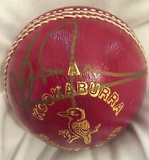 Brian Lara SIGNED cricket ball in gold marker. World Record holder! West Indies.