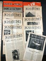 Signs of the Times Prophetic Newspaper Lot WW2 Lead-up 1930s 1940s Christian Vtg