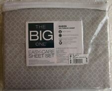 Big One Queen sheet set, Gray Trellis, New with tags