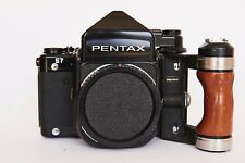 Pentax 67 Camera body - MLU-TTL Prism- Wood Grip RARE++MINT!!