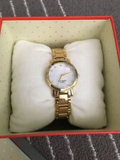 Kate Spade Gold Crystal Marker Watch