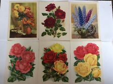 Vintage Amateur Gardening 1935-1939 Supplements flower print