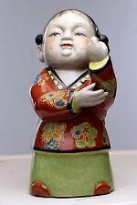 Vintage Chinese Porcelain Polychrome Women Figure Statue Republic era