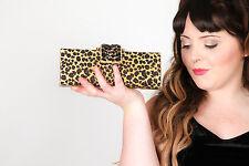 Hardcase gold jeweled  leopardprint clutch bag, evening bag