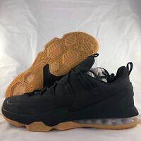 Nike Lebron XIII Low PRM Anthracite Dark Grey Suede Gum AH8289-001 Men's 10