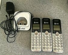 At&T Cordless Telephone Phone Base and Handsets - 4 total - Tested and works