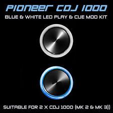 PIONEER CDJ 1000 MK2 & MK3 BLUE & WHITE PLAY & CUE LED MOD KIT (FOR 2 x CDJS)