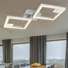 LED Kristall Decken Leuchte Wohn Ess Zimmer Beleuchtung Design Flur Lampe silber