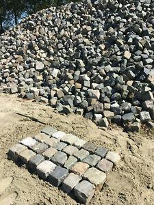 Historische Pflastersteine, Kopfsteinpflaster, Granit , Sandstein, Grauwacke