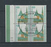 BERLIN DAUERSERIE 834 SWK 1989 RAND-4ER-BLOCK ideal ESStpl c3677