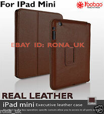 GENUINE Yoobao Executive Elegant Real Leather Quality Case i for Pad Mini_COFFEE