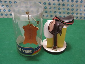 Vintage - Saddle IN Real Leather Tone Dark and Light - Breyer USA