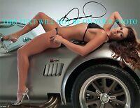 DANICA PATRICK SIGNED AUTOGRAPH 8x10 RP PHOTO NASCAR SEXY
