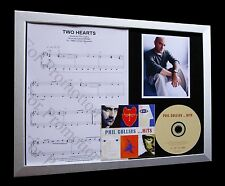 PHIL COLLINS Two Hearts GALLERY QUALITY CD FRAMED DISPLAY-EXPRESS GLOBAL SHIP!!