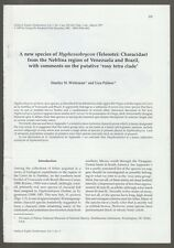 [26203] SCIENTIFIC ARTICLE: A NEW SPECIES of HYPESSOBRYCON by STANLEY WEITZMAN