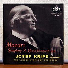 "DECCA 10"" LW 5265 - JOSEF KRIPS, LSO - MOZART - SYMPHONY NO.39 K.543"