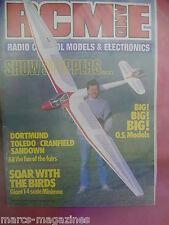 "RCM&E JULY 1987 CHRIS WILLIAMS MINIMOA 53"" WIDGET PLANS PARASOL SPORT M WHITTARD"