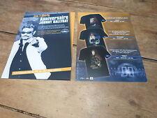 JOHNNY HALLYDAY - Plan média / Press kit !!! T-SHIRTS 100% ANNIVERSAIRE !!!