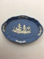 Vintage Blue And White Wedgwood Jasperware Miniature Tray
