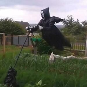 Creative Garden Ghost face Scarecrow Yard Hanging Scary Halloween Scream H5W3