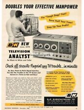 1960 B&K Model 1076 Television Analyst Test Service Equipment Vtg Print Ad