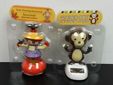 New Solar Powered Dancing Toy Bobble Head Scarecrow & Crows On Pumpkin & Monkey