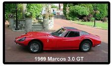 1969 Marcos 3.0 GT Refrigerator / Tool Box Magnet  Man Cave Garage