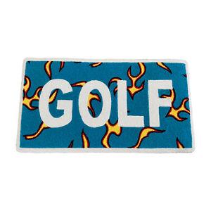 Custom Tyler the Creator Golf Wang Flames Logo Indoor Floor Door Mat Rug Carpet