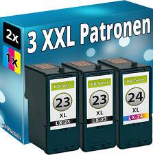 3x TINTE PATONEN für LEXMARK 23+24 34+35 XL X3530 X3550 X4530 X4550 Z1410 Z1420