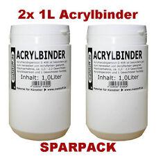 2x 1 Liter Acrylbinder für Acrylfarben Lasuren