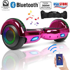 Bluetooth Hoverboard Ul2272 Self Balancing Scooter Led Ul2272 W/ Bag Rose Red