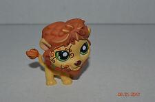Littlest Pet Shop~#944~Tattoo Lion~Yellow Orange~Green Swirl Eyes