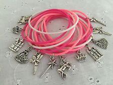 12 Fairytale Princess Unicorn Castle Theme Charm Gummy Bracelets Party Bag Gift