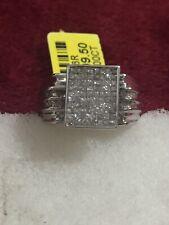 14kt White Gold Princess Cut Invisible Setting Diamond 💎 Ring Size 7