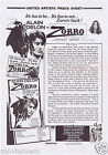 ZORRO Original Vintage Australian Movie Press Sheet Alain Delon Stanley Baker