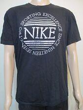 Nike Vintage Standard Fit Logo Script Black T-Shirt Men's Size Xl