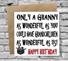 WONDERFUL GRANNY HAPPY BIRTHDAY GREETINGS CARD LOVE FUNNY RUDE COMEDY HUMOUR