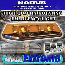 NARVA 12 VOLT EUROMAX MINI ROTATING EMERGENCY LIGHT BAR FLANGE BASE 85050A