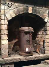 Woodburning Stove Cylindrical Cast Iron for Workshop Man Hut Boat Yurt Cooking